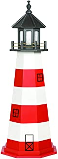 product image for DutchCrafters Decorative Lighthouse - Wood, Assateague Style (Red/Black/White, 5)