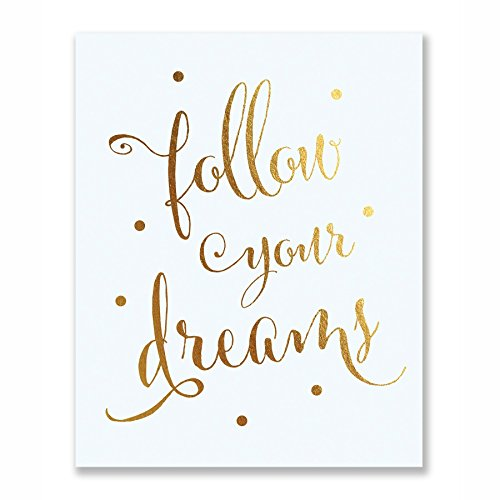 Follow Dreams Inspirational Motivational Metallic product image