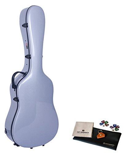 Crossrock CRF1000SASL Fiberglass Acoustic Guitar Case Hardshell- Backpack Style for 40