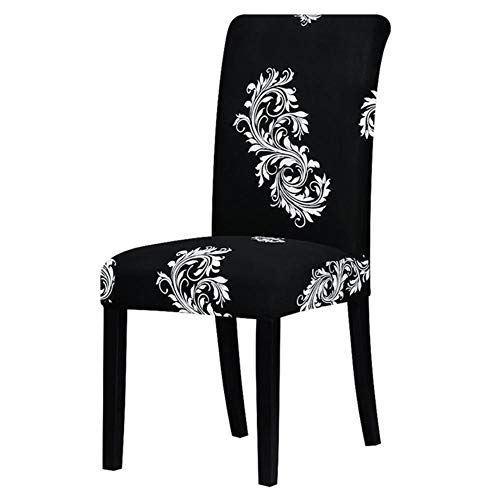 Hakazhi Inc Printing Zebra Stretch Chair Cover Big Elastic Seat Chair Covers Painting Slipcovers Restaurant Banquet Hotel Home Decoration (Black and White,Universal - Zebra Slipcover