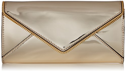 Metallic Large Wallet Wallet, PALE GOLD, One Size by Rebecca Minkoff
