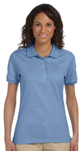 Light Jersey Blue (Jerzees womens 5.6 oz. 50/50 Jersey Polo with SpotShield(437W)-LIGHT BLUE-M)