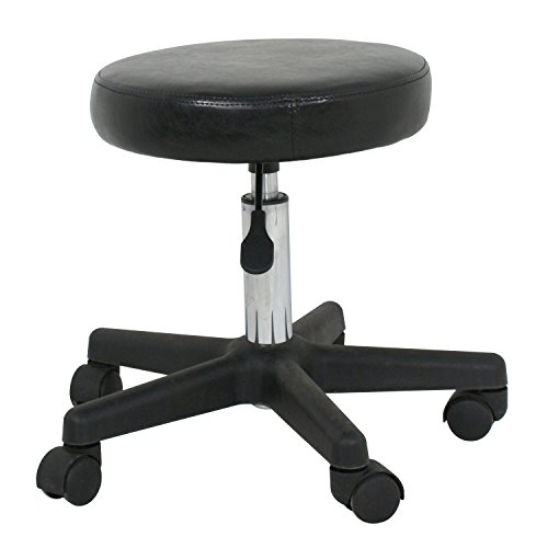 Zeny Adjustable Tattoo Salon Beauty Stool Hydraulic Rolling Chair Facial Massage Spa, White (black 1 pcs) by ZENY