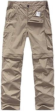 Kids' Cargo Pants, Boy's Casual Outdoor Quick Dry Waterproof Convertible Zip Off Hiking Climbing