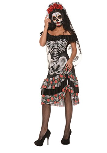 Queen Of The Dead Costume (Women's Sugar Skull Costume)