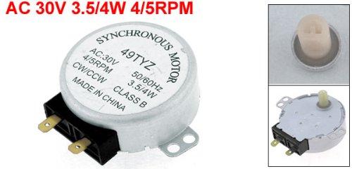 Amazon.com: Uxcell Motor Síncrono AC 30 V 3.5/4 W 4/5rpm ...