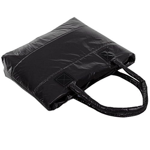 Bolso de las señoras - All4you espacio Bale invierno algodón bolsa de hombro Totes Bag(Black) mujeres Negro