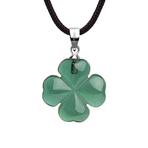 iSTONE Jewelry Green Crystal Four Leaf Clover Pendant Necklace for Faith Hope Love and Luck 334301520
