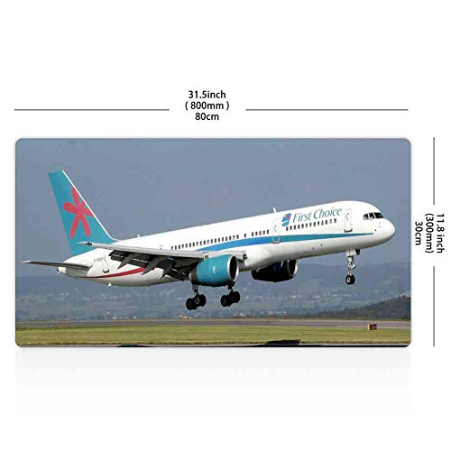 Mouse Pad Rectangle Mouse Pad Airplane Takeoff B757 Aircraft Aviation Commercial #545316 Stylish 800mm300mm3mm