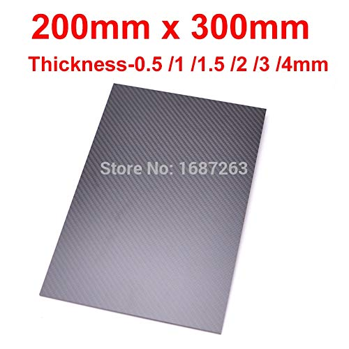 1.5mm Thickness Laliva 200mm X 300mm 0.5mm 1mm 1.5mm 2mm 3mm 4mm 5mm Thickness Real Carbon Fiber Plate Panel Sheets High Composite Hardness Material RC  (color  1.5mm Thickness)