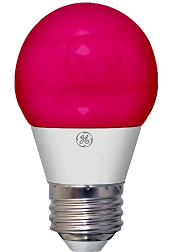 (GE Lighting 92132 3-Watt LED Party Light Bulb with Medium Base, Pink, 1-Pack)