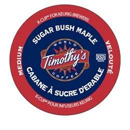 Timothy's World Coffee Sugar Bush Maple K-Cups