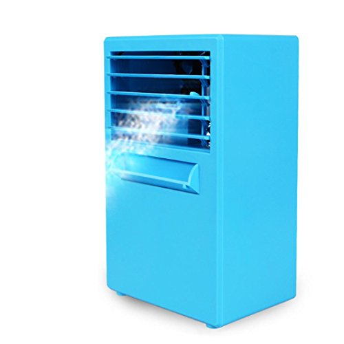 Inverlee Portable Air Conditioner Fan Mini Evaporative Air Circulator Cooler Humidifier (Blue) ()