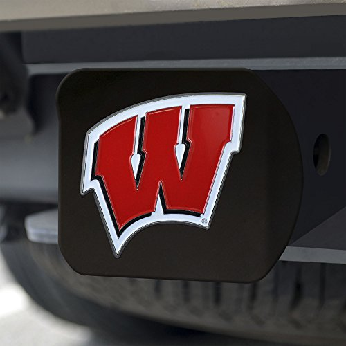 FANMATS NCAA Wisconsin Badgers University of Wisconsincolor Hitch – Black, Team Color, One Size