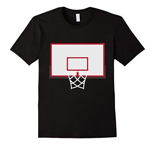 Costume Basketball Hoop (Mens Basketball Backboard With Hoop Costume Shirt Rim Dunks Large Black)
