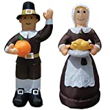Air Blown Inflatable Thanksgiving Pilgrim Amish Man & Woman Combo Pack Yard Decoration