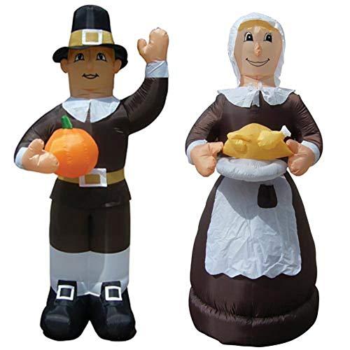 Air Blown Inflatable Thanksgiving Pilgrim Amish Man & Woman Combo Pack Yard -