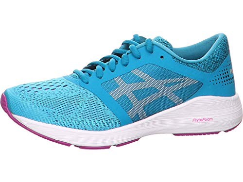 ASICS Women's Roadhawk FF Aquarium/White/Orchid 9.5 B US (Best Fish For New Aquarium)