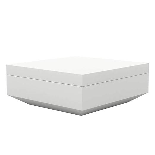 Vondom Vela puff cuadrado de exterior 100x100 cm blanco ...