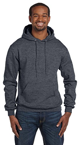 Champion Eco 9 oz. Pullover Hood, XL, CHARCOAL HEATHER