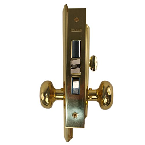 Marks Metro 71A/3 Polished Brass US3 Left Hand Mortise Entry Lockset Surface Mounted