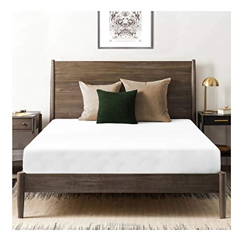 Tissaj Organic Cotton Fitted Sheet - 500 TC Thread Count Queen Size Ultra White - Bedding - 100% GOTS Certified Extra Long Staple, Soft Sateen Weave - Fits 15