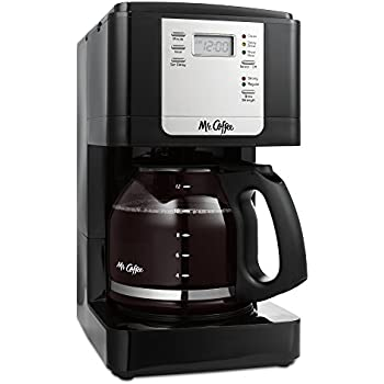Mr. Coffee JWX23 12-Cup Programmable Coffeemaker, Black