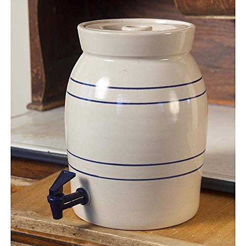 Heritage Blue Stripe Stoneware Water Cooler (Dispenser Stoneware Water)