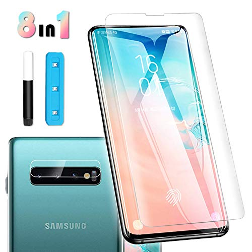 Tempered Glass Screen Protector For Galaxy S10 6 1 Touch Responsive Include A Camera Lens Protector And Liquid Installation Tools Case Friendly Full Screen Coverage Hd Clear
