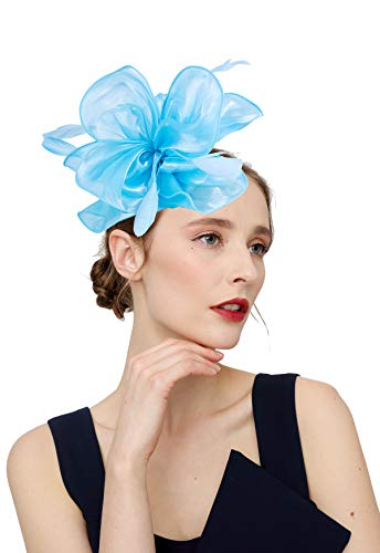 Czioe Flower Cocktail Tea Party Headwear Feather Fascinators