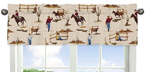 Cowboy Valance (Sweet Jojo Designs Window Valance for Wild West Cowboy Western Collection)