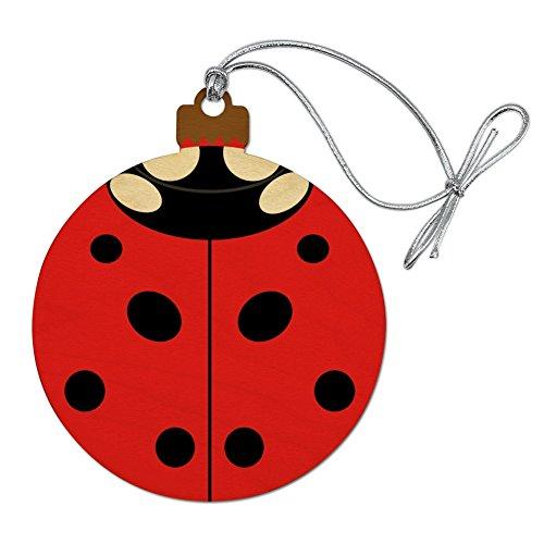 GRAPHICS & MORE Lady Bug Ladybug Insect Wood Christmas Tree Holiday Ornament