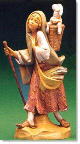 Miriam girl shepherd figurine nativity polymer 7.5 inches Fontanini Roman 52872