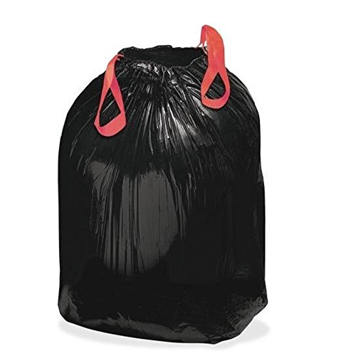 26 Gallon Trash Bags (Lawn & Leaf Trash bags - 13 Gallons - 26 Gallons, Kitchen Drawstring Garbage Bags 20 Counts / 2 Rolls , Strong Black Plastic Bags for Kitchen, Garden, Office)