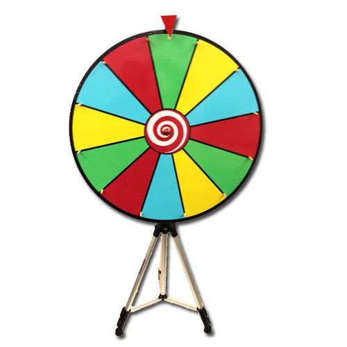 24 Inch Dry Erase Prize Wheel with Easel - Choose Type