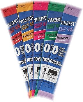 VITAZEST TRIAL PACK - 5 Drink Mix Packets ALL flavors (Sugar Free & Vitamin enriched & Diabetic Friendly)