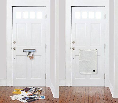 The Mail Catcher: Never Pick-Up Mail Off the Floor Again! Letter Catcher Bag for Front doors Garage Door Slot Post Box Basket Sack Mailbag slots