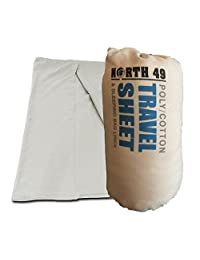 Poly/Cotton Sleeping Bag Liner / Travel Sheet / Hostel Bag - Beige