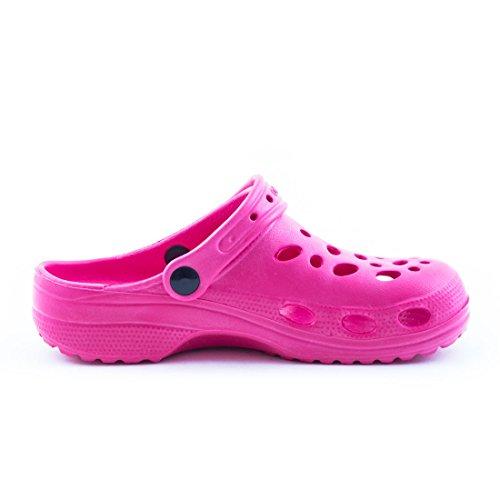 Trendige Unisex Damen Kinder Herren Garten Sommer Wasser Aqua Clogs Schuhe Pink