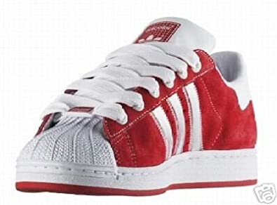 buy popular a44d9 33d24 Image Unavailable. Image not available for. Colour  Adidas Adicolor  Superstar II 2 R5 Trainers Red ...