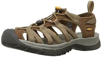 KEEN Women's Whisper Sandal,Coffee Liqueur/Yellow,5 M US