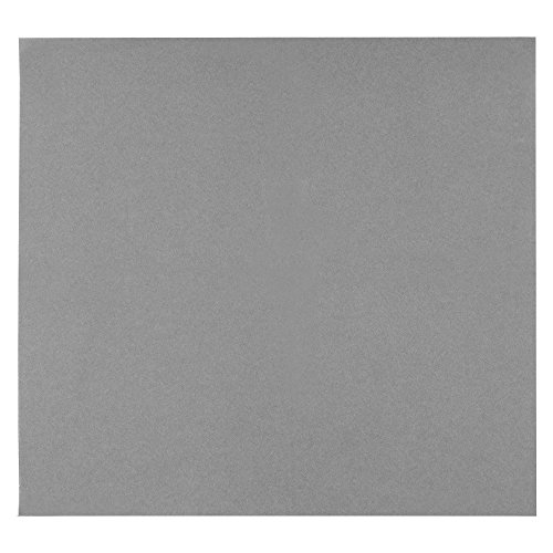"ITOS365 Colored Napkins – Gray – Decorative Cloth Like & Disposable Napkins for Wedding Airlaid Paper Dinner Napkins – Soft, Absorbent & Durable – 16""x16"" – Set of 50 ()"