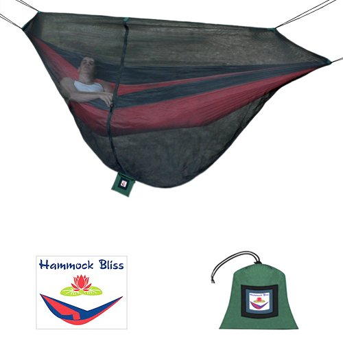 Hammock Bliss No-See-Um/ Mosquito Net Cocoon -The Ultimate Bug Free Sleeping Solution For Your Hammock