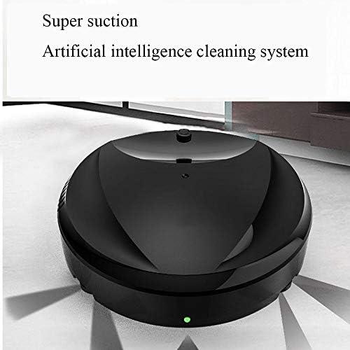 Robot De Balayage De Sol, Machine Tout-en-Un Intelligente De Balayage Automatique De Maison, Aspirateur De Balayage De Sol Trois en Un,Blanc