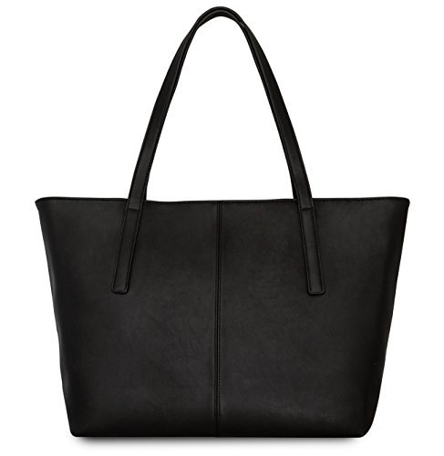 Handbag Shopper Tote Bag Women Black - Expatrié - Big Shoulder Bag Vegan Leather