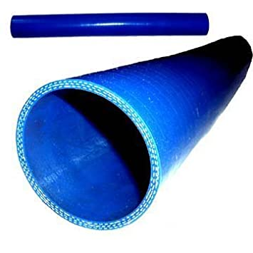 2.5 Silicone 2 Straight Hose Blue