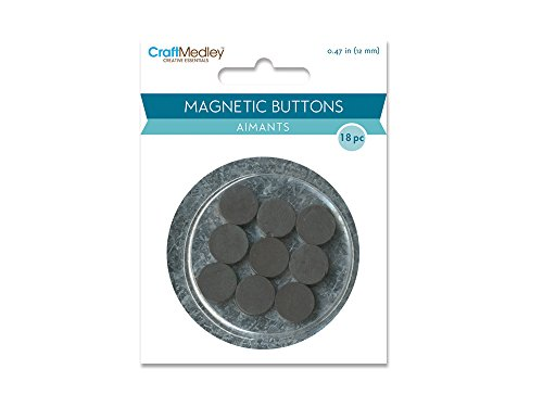 Magnetic Buttons On Mirror-12mm 18/Pkg