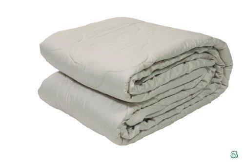 Certified Organic Merino Wool Comforter PLATINUM in Full/Queen Size, 86x86'' by Sleep & ()