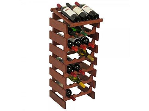 21 Bottle Dakota™ Wine Rack with Display Top by Wooden Mallet