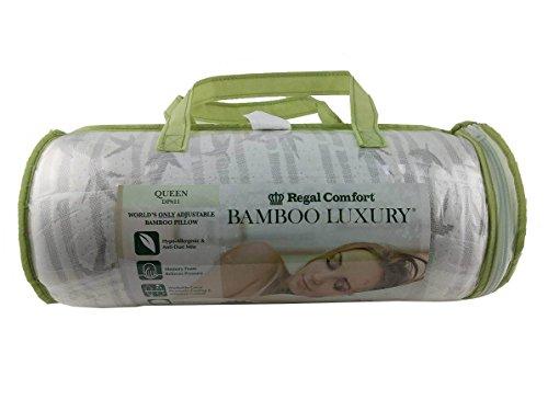 Regal Comfort Bamboo Luxury Memory Foam Pillow Queen